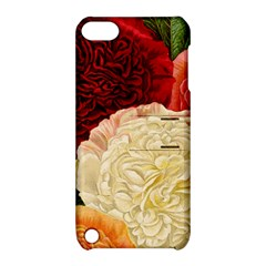 Vintage Carnation Flowers Apple Ipod Touch 5 Hardshell Case With Stand by snowwhitegirl