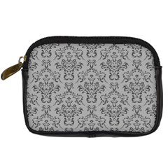 Victorian Paisley Grey Digital Camera Leather Case by snowwhitegirl