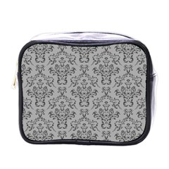 Victorian Paisley Grey Mini Toiletries Bag (one Side)