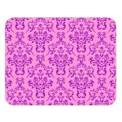 Victorian Paisley Pink Double Sided Flano Blanket (large)  by snowwhitegirl