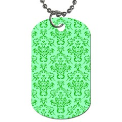 Victorian Paisley Green Dog Tag (two Sides) by snowwhitegirl