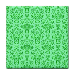Victorian Paisley Green Face Towel by snowwhitegirl