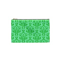 Victorian Paisley Green Cosmetic Bag (small) by snowwhitegirl