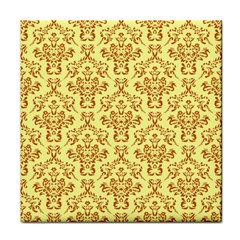 Victorian Paisley Yellow Face Towel by snowwhitegirl