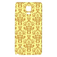Victorian Paisley Yellow Samsung Note 4 Hardshell Back Case by snowwhitegirl