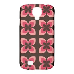 Retro Flower Pink Brown Samsung Galaxy S4 Classic Hardshell Case (pc+silicone) by snowwhitegirl
