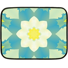 Pattern Flower Abstract Pastel Fleece Blanket (mini)