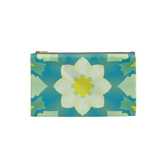 Pattern Flower Abstract Pastel Cosmetic Bag (small) by Simbadda
