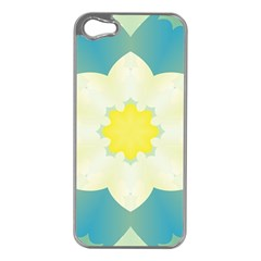 Pattern Flower Abstract Pastel Apple Iphone 5 Case (silver)