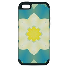 Pattern Flower Abstract Pastel Apple Iphone 5 Hardshell Case (pc+silicone) by Simbadda