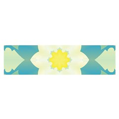 Pattern Flower Abstract Pastel Satin Scarf (oblong)