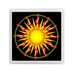 Mandala Sun Graphic Design Memory Card Reader (square)