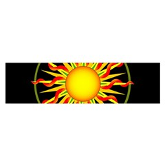 Mandala Sun Graphic Design Satin Scarf (oblong) by Simbadda