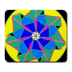 Mandala Wheel Pattern Ornament Large Mousepads