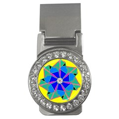 Mandala Wheel Pattern Ornament Money Clips (cz)  by Simbadda