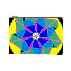 Mandala Wheel Pattern Ornament Cosmetic Bag (large)