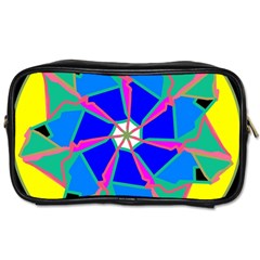 Mandala Wheel Pattern Ornament Toiletries Bag (one Side) by Simbadda