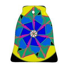 Mandala Wheel Pattern Ornament Bell Ornament (two Sides)