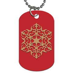 Ornament Flower Pattern Jewelry Dog Tag (two Sides)