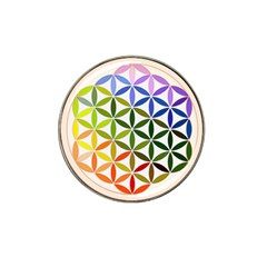 Mandala Rainbow Colorful Reiki Hat Clip Ball Marker (10 Pack) by Simbadda