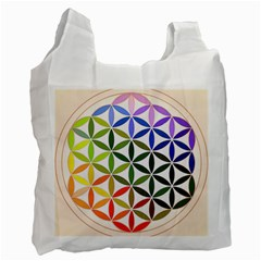 Mandala Rainbow Colorful Reiki Recycle Bag (one Side)