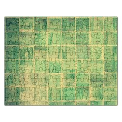 Abstract Green Tile Rectangular Jigsaw Puzzl by snowwhitegirl