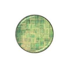 Abstract Green Tile Hat Clip Ball Marker (4 Pack) by snowwhitegirl