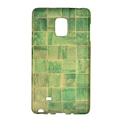 Abstract Green Tile Samsung Galaxy Note Edge Hardshell Case by snowwhitegirl