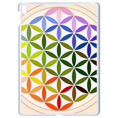 Mandala Rainbow Colorful Reiki Apple Ipad Pro 9 7   White Seamless Case
