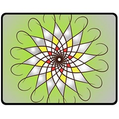 Mandala Model Figure Graphics Fleece Blanket (medium)