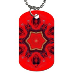 Chakra Art Heart Healing Red Dog Tag (two Sides)