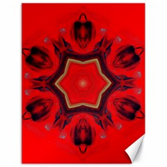 Chakra Art Heart Healing Red Canvas 18  X 24  by Simbadda