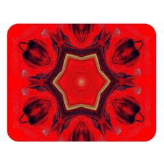Chakra Art Heart Healing Red Double Sided Flano Blanket (large)