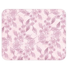 Pink Floral Double Sided Flano Blanket (medium)  by snowwhitegirl