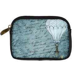 Vintage Hot Air Balloon Lettter Digital Camera Leather Case by snowwhitegirl