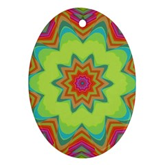 Abstract Art Abstract Background Pattern Oval Ornament (two Sides) by Simbadda
