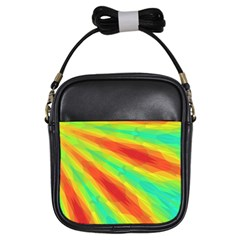 Graphic Kaleidoscope Geometric Girls Sling Bag