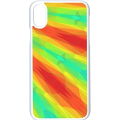Graphic Kaleidoscope Geometric Apple Iphone X Seamless Case (white) by Simbadda
