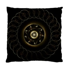 Fractal Gold Mandala Fractal Art Standard Cushion Case (one Side) by Simbadda