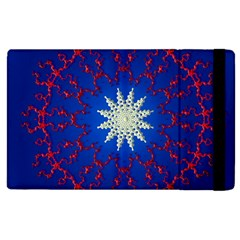 Mandala Abstract Fractal Patriotic Apple Ipad 2 Flip Case by Simbadda