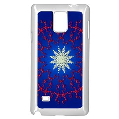 Mandala Abstract Fractal Patriotic Samsung Galaxy Note 4 Case (white)
