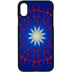 Mandala Abstract Fractal Patriotic Apple Iphone X Seamless Case (black) by Simbadda