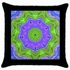 Abstract Art Colorful Throw Pillow Case (black)
