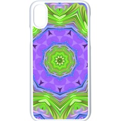 Abstract Art Colorful Apple Iphone X Seamless Case (white) by Simbadda