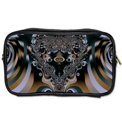 Art Pattern Fractal Art Artwork Design Toiletries Bag (one Side) by Simbadda