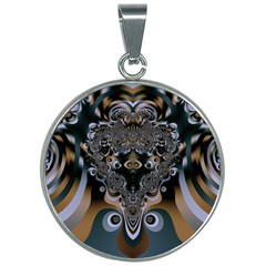 Art Pattern Fractal Art Artwork Design 30mm Round Necklace