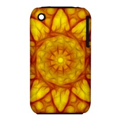 Kaleidoscope Floral Mandala Yellow Iphone 3s/3gs