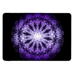 Fractal Mandala Background Purple Samsung Galaxy Tab 8 9  P7300 Flip Case
