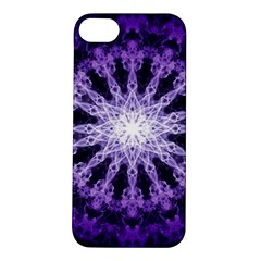 Fractal Mandala Background Purple Apple Iphone 5s/ Se Hardshell Case