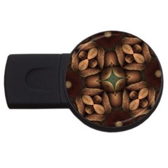Pattern Moroccan Print Geometric Usb Flash Drive Round (2 Gb) by Simbadda
